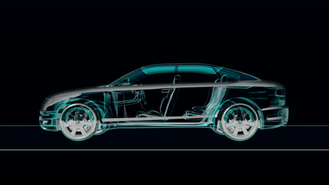Automobile Technology. X-ray side view. video