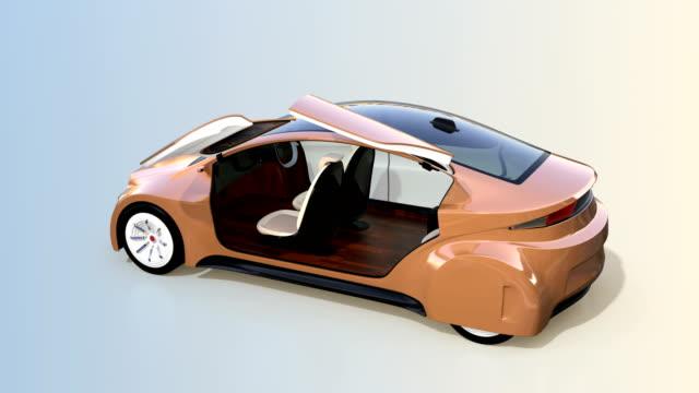 Autonomous car interior concept for new business travel style video