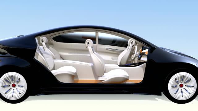 自律走行車インテリアコンセプト - 自動運転車点の映像素材/bロール