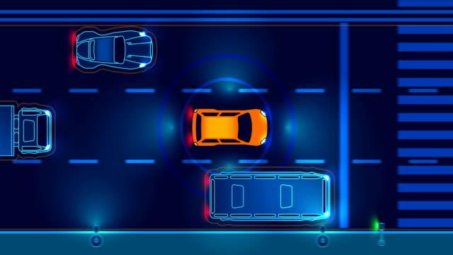 自律車 - 自動運転車点の映像素材/bロール
