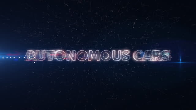 autonomous cars words animation - self driving cars stock videos and b-roll footage