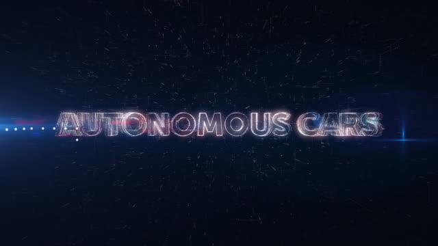 Autonomous Cars words animation video