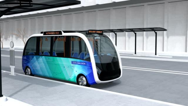 Autonomen Shuttle-Bus, Bus Bahnhof – Video