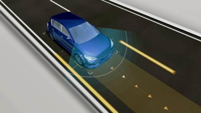 自律走行車、自動運転技術。無人の車、IOT は、車を接続します。4 k サイズの映画。 ビデオ