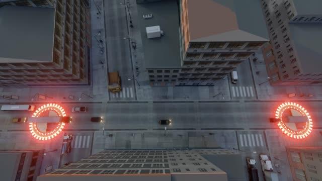 autopilot truck gps. commercial vehicle. 4k - колонна стоковые видео и кадры b-roll