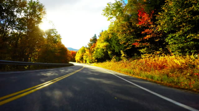 Autumn drive along the Kancamagus Highway in New Hampshire video