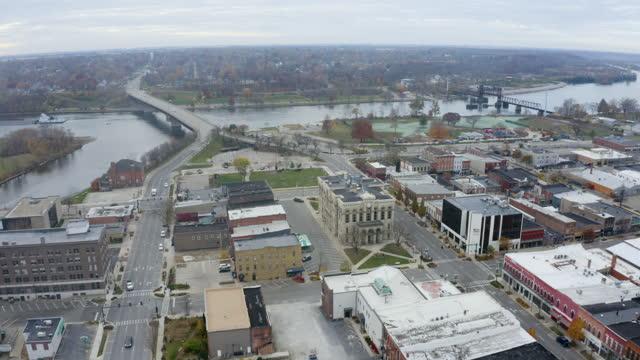 Autumn Drone Over Ottawa Illinois video