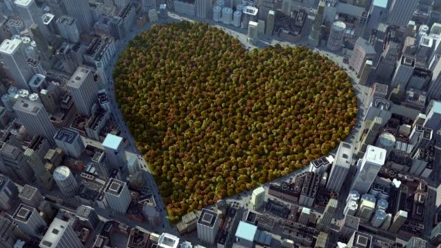 hösten hjärtat av staden - recycling heart bildbanksvideor och videomaterial från bakom kulisserna