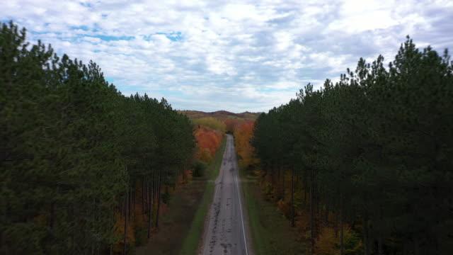 michigan 4k drone sonbahar - masumiyet stok videoları ve detay görüntü çekimi