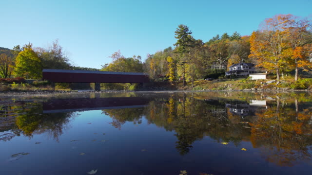 Autumn in the Litchfield Hills region of Connecticut Autumn colors along the Housatonic River in the Litchfield Hills of Connecticut. connecticut stock videos & royalty-free footage