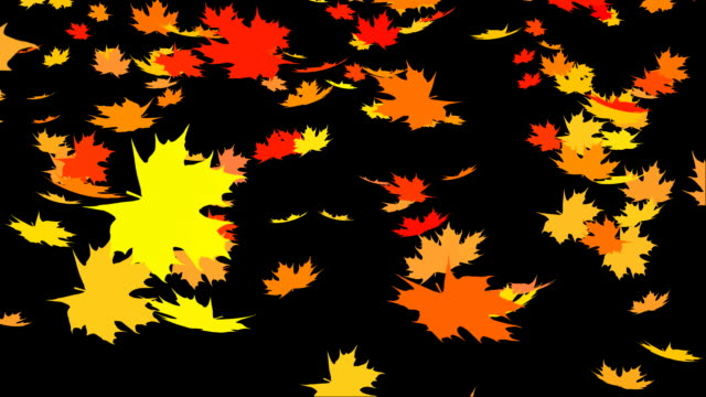 Autumn leafs falling Autumn leafs falling down on black background maple leaf videos stock videos & royalty-free footage