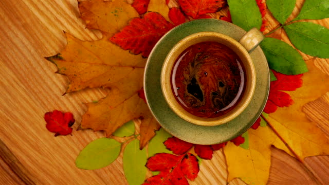 Autumn Leaves with Coffee video