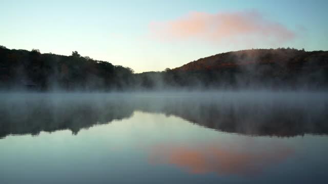 Autumn mist in the Litchfield Hills of Connecticut video