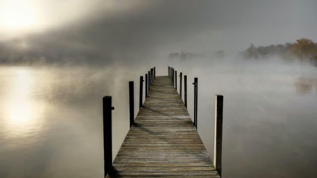 Autumn mist on Lake Winnipesaukee