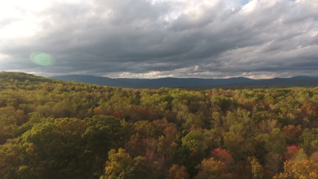 Autumn Ride in Virginia Fall Landscapes from above. Drone 4K Videography 19th century style stock videos & royalty-free footage