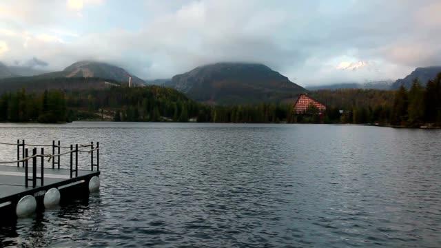 Autumn scenery on Strbske Pleso. Slovakia video