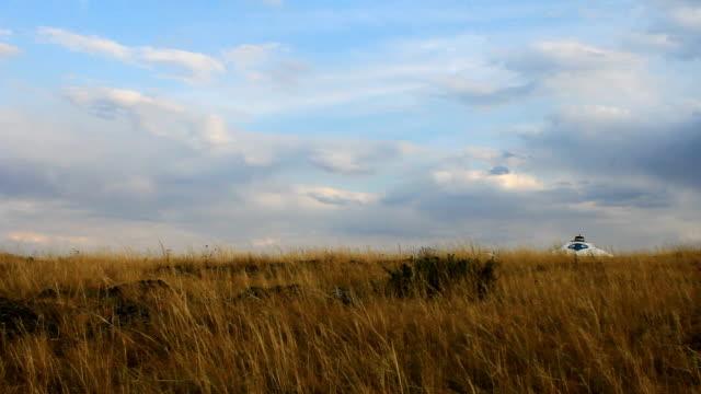 autumn steppe yurt video