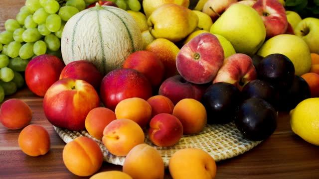 Autumn still-life of fresh fruit video