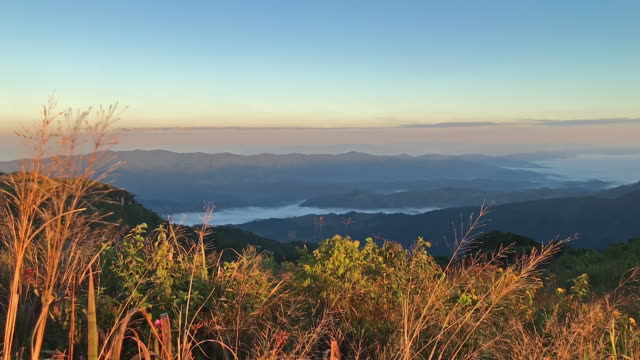 Autumn Sunrise over the Blue Ridge Mountains with Moving Clouds video