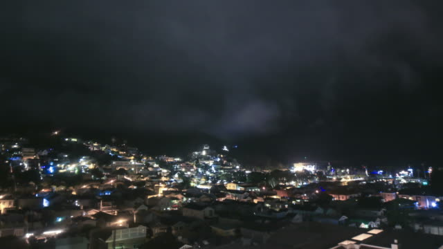 Avalon, California on Catalina Island at night in 4k time lapse video
