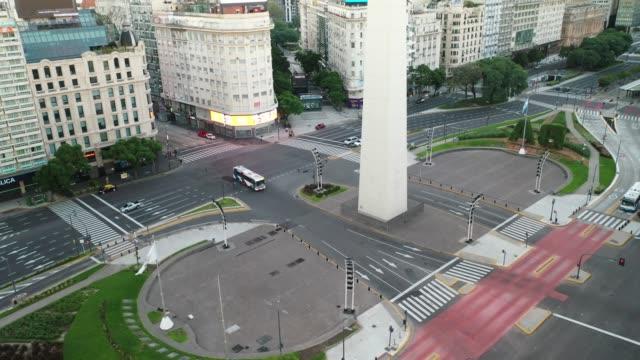 avenida 9 de julio buenos aires - argentyna filmów i materiałów b-roll