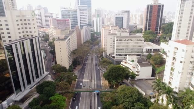 Avenida Nove de Julho in Sao Paulo city, Brazil Drone são paulo state stock videos & royalty-free footage