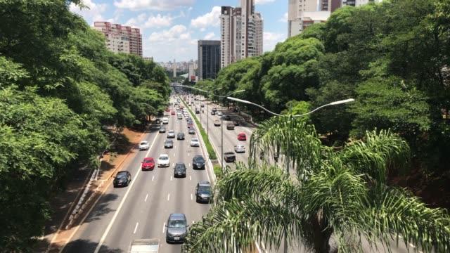 vídeos y material grabado en eventos de stock de avenida 23 de maio en sao paulo. - avenida