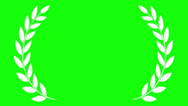 stockvideo's en b-roll-footage met award laurel classic op groen scherm - prijs onderscheiding