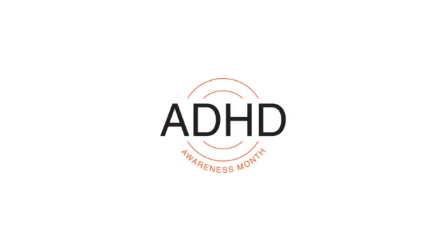 ADHD Awareness in motion graphic animation, ADHD is Attention Deficit Hyperactivity Disorder
