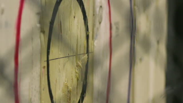 Axe Throwing at Wood Target