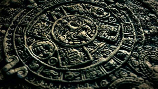 aztec sun stone - 石材 個影片檔及 b 捲影像