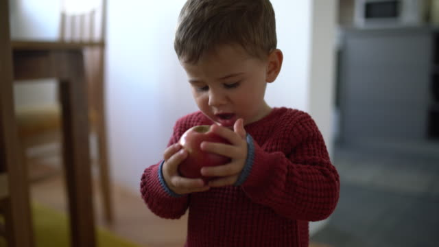 Baby and apple video