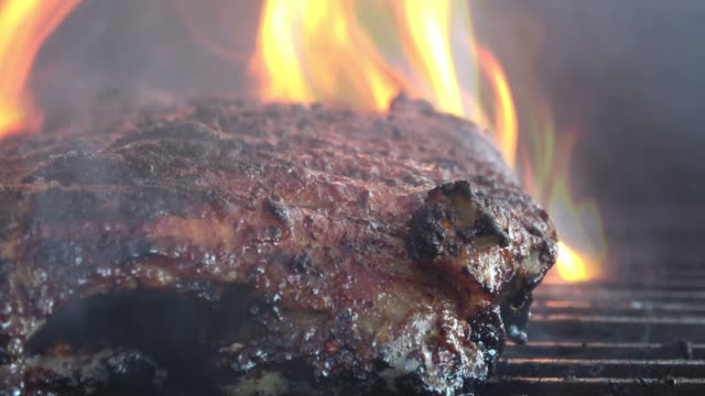BBQ Baby Back Ribs on the Barbeque video