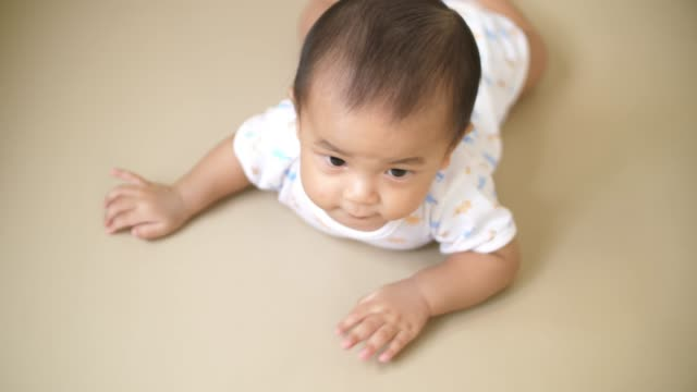 vídeos de stock, filmes e b-roll de bebê engatinhando e jogando no chão - salas de aula