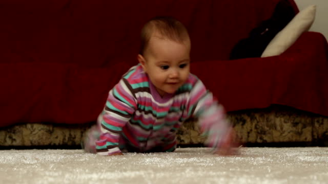Baby Crawling on Carpet video