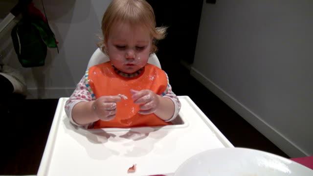 baby eating turkey breast fillet video