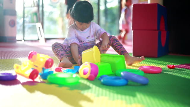 Baby girl play toy video