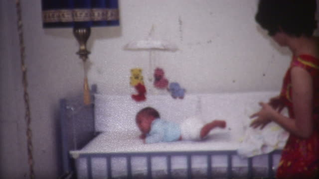 Baby In Crib 1960's video