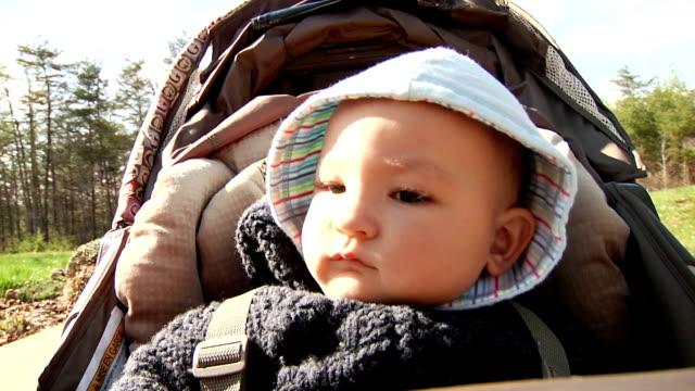 bambino nel passeggino - solo neonati maschi video stock e b–roll