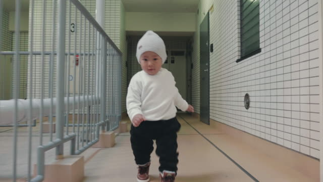 Baby learning how to walk video
