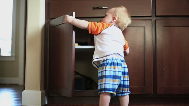 Baby Opening Cupboard video