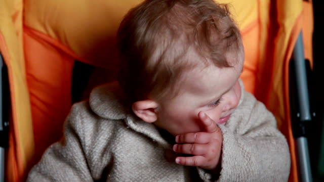 Baby opening her mouth in surprise video