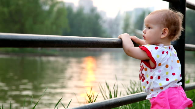 Baby outdoors video