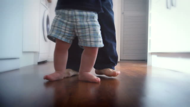 Baby Toddler First Steps. HD video