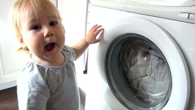 baby washing machine video