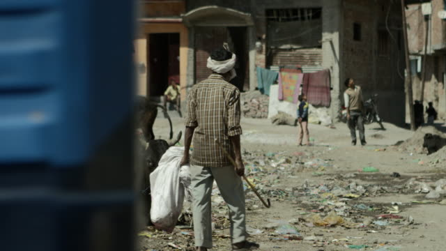 Back alley downtown Rishikesh. video