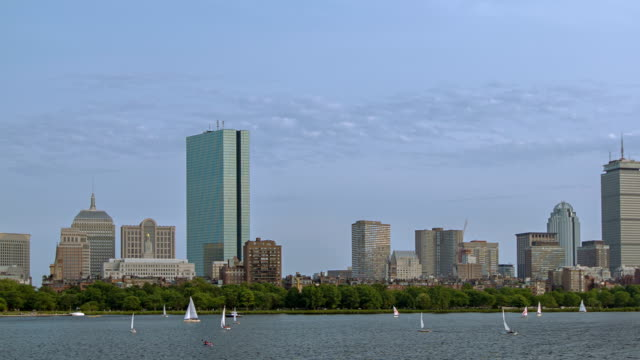 Back Bay Boston Skyline on a Summer Afternoon video