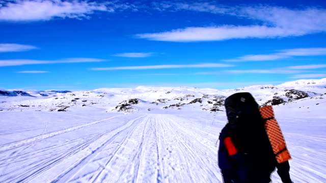 Back country skiing - personal view video