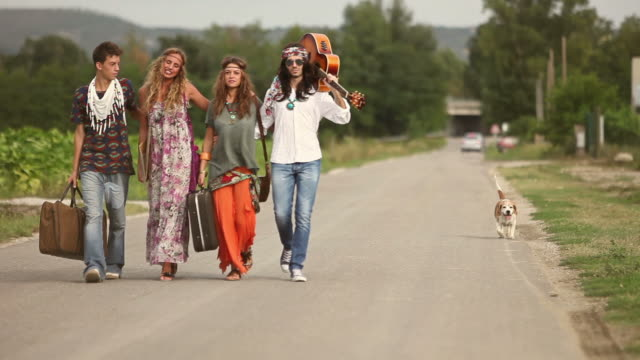 Back in 70s: hippies on the road video