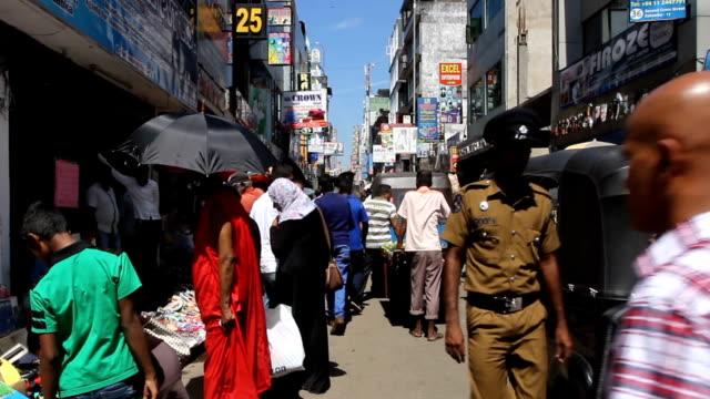 Back streets of Colombo Sri Lanka Back streets of Colombo Sri Lanka, Muslim quarters sri lanka stock videos & royalty-free footage